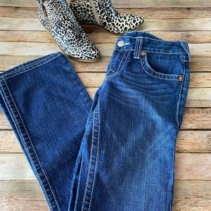 """True Religion """"Becky"""" Boot Cut Jeans Size 28"""